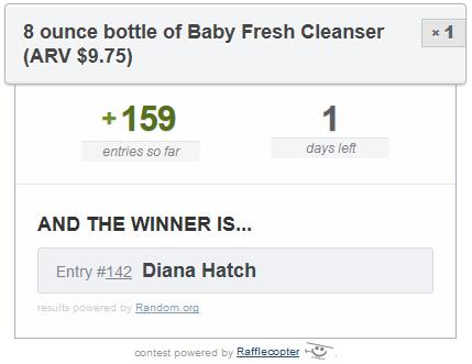 baby fresh cleanser winner